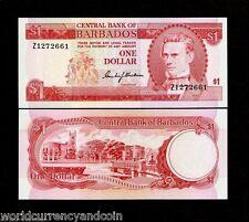 BARBADOS $1 P29 1973 *REPLACEMENT* Z TRAFALGAR UNC CARIBBEAN CURRENCY MONEY NOTE