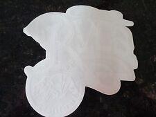"Authentic RVCA Sticker California BEAR Clear background WHITE 5 3/4"" x 5 1/2"""