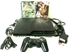 Sony PS3 Playstation Slim Console Bundle Cords Controller & 2 Games CECH-3001A