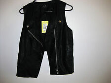 BARDOT NWT $80 SIZE 10 LEATHERETT VEST-FULLY LINED CUT OUT BACK PANELS