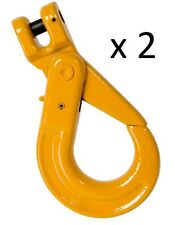 2 x 8mm Clevis Self Locking Hook G80 Alloy Steel Lifting 4x4 Chain Rigging