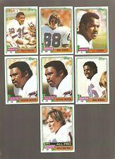 1981 NEW YORK GIANTS FOOTBALL CARD LOT 7 VAN PELT, MARTIN, TURNER, TAYLOR