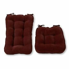 Greendale Home Fashions Jumbo Rocking Chair Cushion Set Hyatt fabric Burgundy