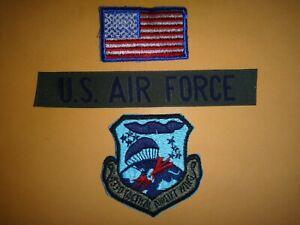 Drapeau USA Patch + États-Unis Air Force Poche Bande + 433rd Tactique Airlift