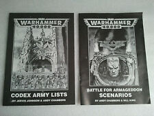 Warhammer 40k 2nd Edition Codex Army Lists & Battle For Armageddon Scenarios