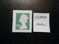 GB 2019~ Security Machin~£3.45~SG U2970~no source code~M19L~Unmounted Mint~UK