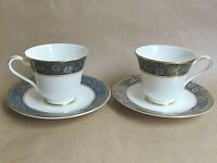 ROYAL DOULTON CARLYLE  H5018  TWO TEA CUPS AND SAUCERS - FIRST QUALITY (Ref5854)