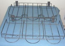 2 Slatwall Retail Display with 3 Basket Black Coated Steel Wire