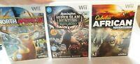 Lot of 3 Nintendo Wii Hunt Games North American, African, Remington Super Slam