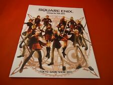 Tokyo Game Show Catalog 2011 Final Fantasy Super Mario Dragon Quest Nintendo PS3