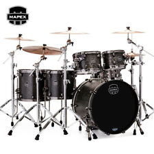 "NEW Mapex SATURN V Exotic Edition SV628XUBKFB 22"" Drum Shell Pack Black Burl"