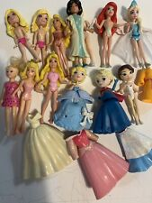 Lot Of 12 Polly Pocket Dolls Princess And Other W/ Clothes