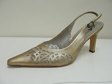 Peter Kaiser Topeka gold leather slingbacks, UK 4/EU 37, RRP £89.99, BNWB
