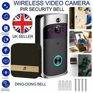 Video Wireless WiFi Doorbell Smart Door Ring Intercom Camera Bell Security UK