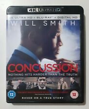 Concussion 4K UHD + BLU RAY Starring Will Smith