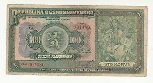 Czechoslovakia 100 korun 1920 circ. p17 @low start