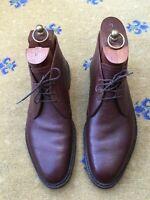 John Lobb Bespoke Mens Shoes Brown Leather Boots UK 9.5 US 10.5 EU 43.5