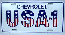 Chevrolet Aluminum License Plate Car Truck Tag Chevy USA-1 Silverado Colorado