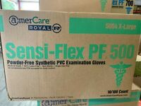 Amercare Royal Sensi-Flex PF 500 Synthetic PVC Exam Gloves **CASE OF 1000**