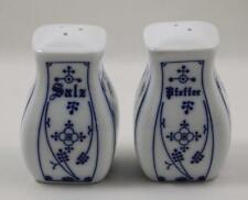 German Salt Pepper Shaker Set Blue White Salz Pfeffer Strawflower K & S
