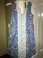 Lilly Pulitzer Target My Fans Sleeveless Shift Mini Dress SIZE 8 AND 14 Womens