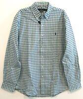 Polo Ralph Lauren Mens Blue Green Plaid Slim Fit Button-Front Shirt NWT Size XL