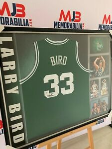Larry Bird Signed Boston Celtics Jersey Custom Frame (Beckett COA)