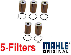 5- OEM Mahle Oil Filter's for Porsche 911 Boxster Cayenne Cayman 99610722553