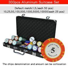 Poker Chip Sets Aluminum Suitcase 100-500pcs/set Casino Texas Clay Playing Card