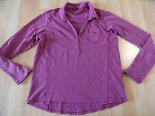 CECIL schönes Jerseyshirt m. Kragen beere Gr. S TOP PN116