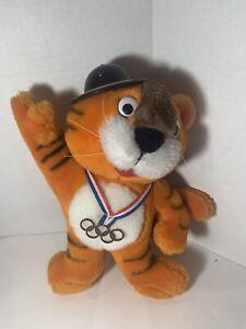 """Vintage Seoul Summer 1988 Olympics Hodori Plush Mascot Plush Tiger 9"""""""