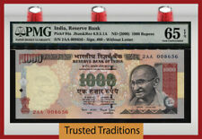 Tt Pk 94a Nd(2000) India 1000 Rupees Gandhi Pmg 65 Epq Gem Unc Only Three Finer!