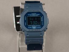 Casio G-Shock DW5600LU-2 Camouflage Military Design Nylon Blue Band Watch