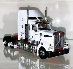 """Kenworth T909 Aero kit """"white red""""WSI/Drake truck models Z01552"""