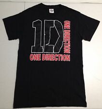 One Direction 1D Music Boy Band Black T-Shirt Adult Size Small