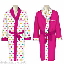 Paul Frank Julius Monkey Luxurious Ladies Pink Reversible Bathrobe Dressing Gown