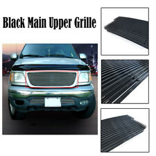 Black Main Upper Grille Insert For 1999-2003 Ford F150/Lightning/Harley/Exdition