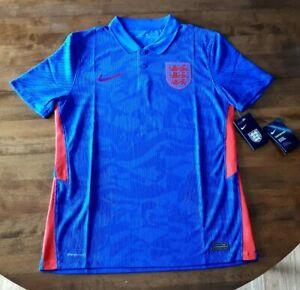 Nike England Vaporknit Soccer Jersey Shirt 2020 2021 Blue Away Match CD0598-430