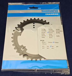 Shimano FC-R7000 Chainring (MT) 52/36 Black or Silver 11-Speed