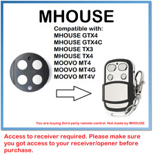 MHOUSE GTX4, GTX4C, TX3, TX4 Compatible Remote Control Rolling code 433.92MHz.