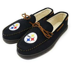 NFL Pittsburgh Steelers Men's Colored Moccasin Hard Slippers-New