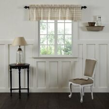 Annie Buffalo Check Lined Valance by VHC Brands Tan 90l X 16w In.