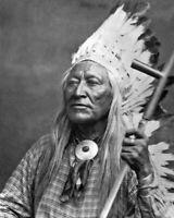 Native American Indian CHIEF WASHAKIE Glossy 8x10 Photo Eastern Shoshone Print