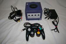 Nintendo GameCube Indigo Purple Console Bundle PLEASE READ TESTED!