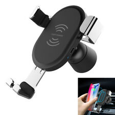 10W Qi Wireless Car Charger Gravity Linkage Auto Lock Phone Car Charger Holders
