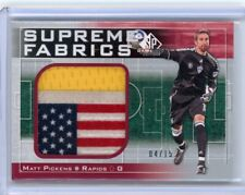 2011 SP GAME USED SUPREME FABRICS MATT PICKENS MLS SOCCER UPPER DECK JERSEY CARD