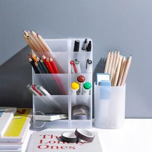 Storage Pencil Pen Bucket Tidy Desktop Organiser Stationary Home Office Holder