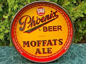 1930's Beer Tray- Phoenix beer And Moffats Ale Brewed By The Phoenix Brewing Co.