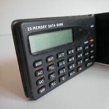 Mini agenda 20 noms MEMORY DATA BANK 9303 objet vintage électronique N4888