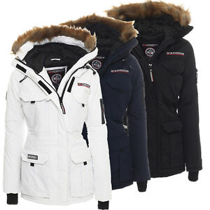 Geographical Norway Damen Jacke gefütterte Alaska Winter Ski Parka Winterparka